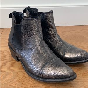 Dolce Vita metallic leather ankle boots